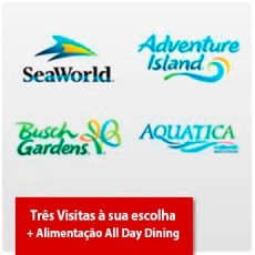 SeaWorld Parks (2 visitas + Uma grátis) + Plano de Alimentação para os 3 dias - Acima de 3 anos